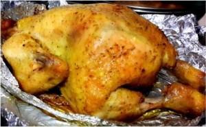 курица в мультиварке в фольге