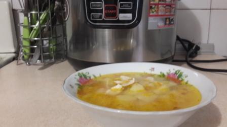 суп с домашней курицей в мультиварке