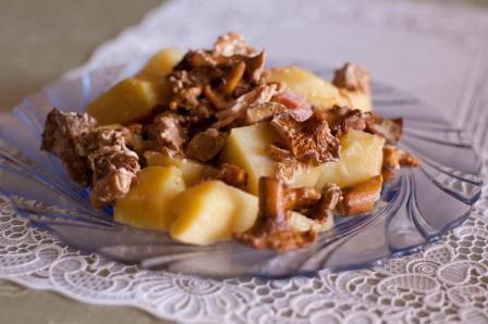 Лисички с картошкой в мультиварке рецепт
