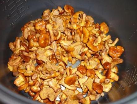 Лисички с картошкой  пошаговый рецепт в мультиварке