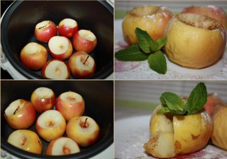 печенные яблоки в мультиварке