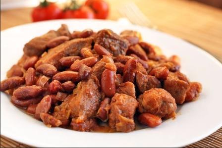 пошаговый рецепт свинины с фасолью в мультиварке