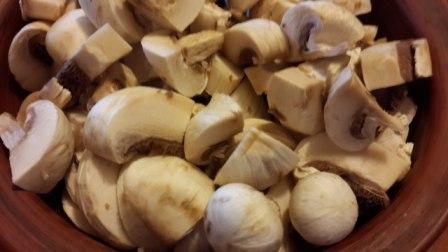 грибы нарезанные шампиньоны