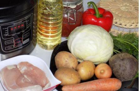 Ингредиенты на борщ