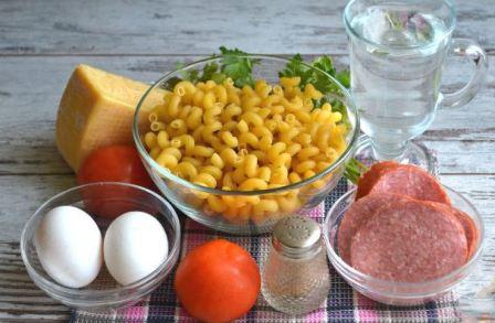 макароны в мультиварке, ингредиенты